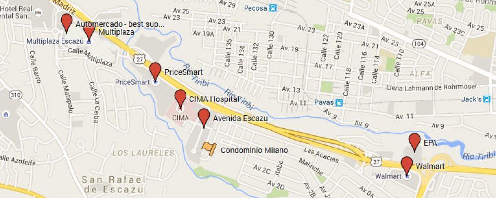 Map of Milano condo area