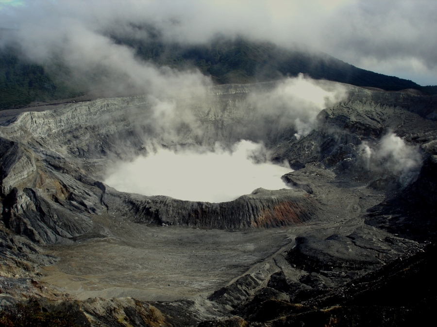 Poas Volcano from above