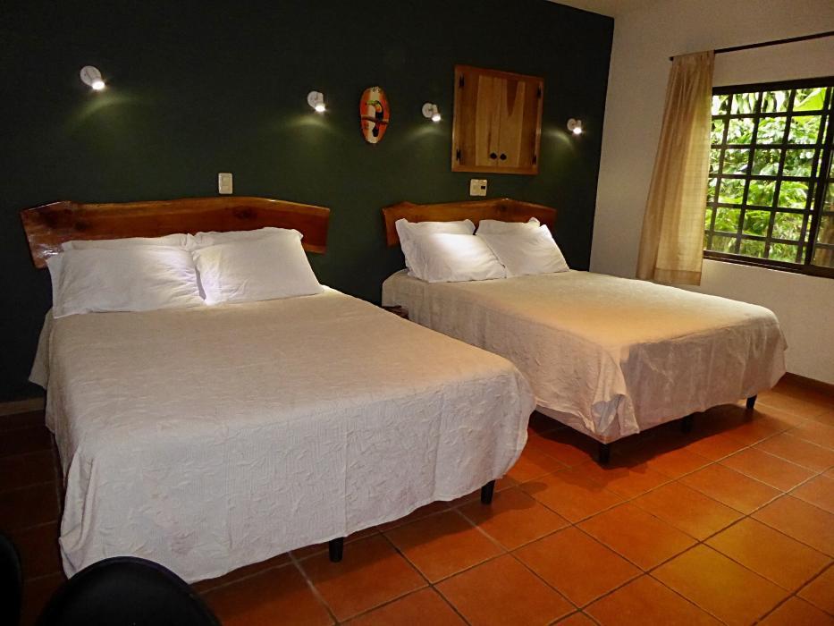 Toucan Casita bedroom with 2 queen beds