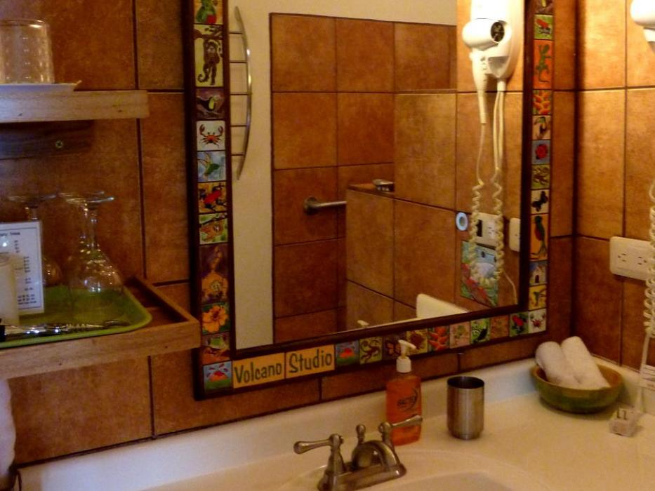 Local art in the Volcano Studio bathroom