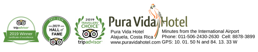 Pura Vida Hotel, Bed and Breakfast near San Jose Airport, Costa Rica